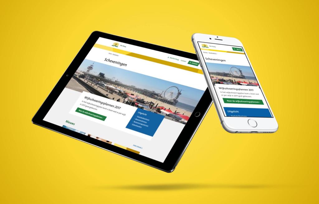 Vernieuwde website gemeente Den Haag