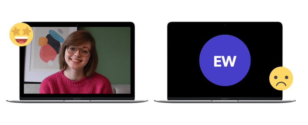 Verschil tussen webcam aan en webcam uit